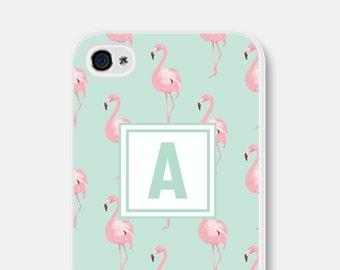 Flamingo iPhone Case Monogram iPhone 5s Case Monogram iPhone 6 Plus Case Monogram iPhone 5 Case iPhone 5c Case Personalized iPhone Case Mint