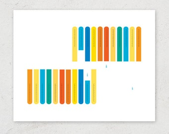 Lab Test Tubes - Science Art Print