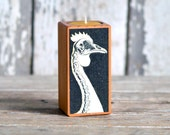 Farm Animal Candleblock: No. 4, Smokestack Chicken Head - by Peg and Awl