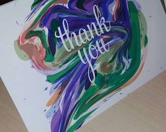Artsy Paint Thank You Cards