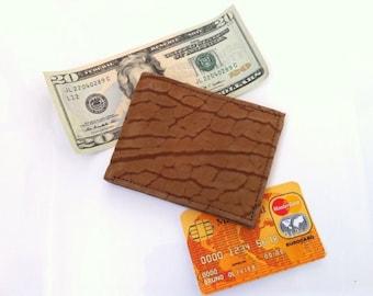 Mens Wallet - Vintage Leather Wallet - Bifold Wallet - Brown Leather Travel Wallet