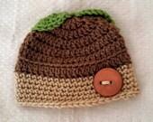 Crochet Infant Acorn Hat Beanie