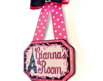 Eiffel Tower Hand Painted Name Sign