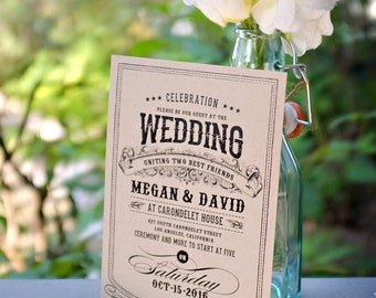 RESERVED // Alchemy: kraft eco wedding invitation