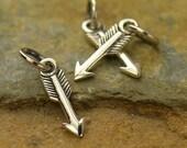 Arrow Charm Mini - C1558,  Sterling Silver & Gold Plated, Archery, Hunter, Sportsman, Love, Southwest