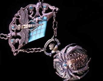 Spider Necklace Steampunk Watch Necklace Steampunk Watch Women Pocket Watch