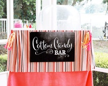 Chalkboard Cotton Candy Bar POSTERS - 3 different sizes included
