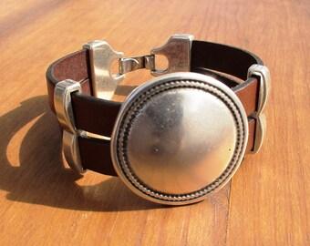 sterling silver bracelets, beaded Bracelets, womens bracelets, silver bracelet, beads bracelet, leather bracelet, jewelry accessories