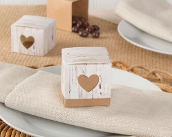 Rustic Birch Favor Boxes {24 Pieces} 2-Piece Favor Box Party Favor GIFT BOXES Wedding Bridal Shower Engagement Party Favor Box