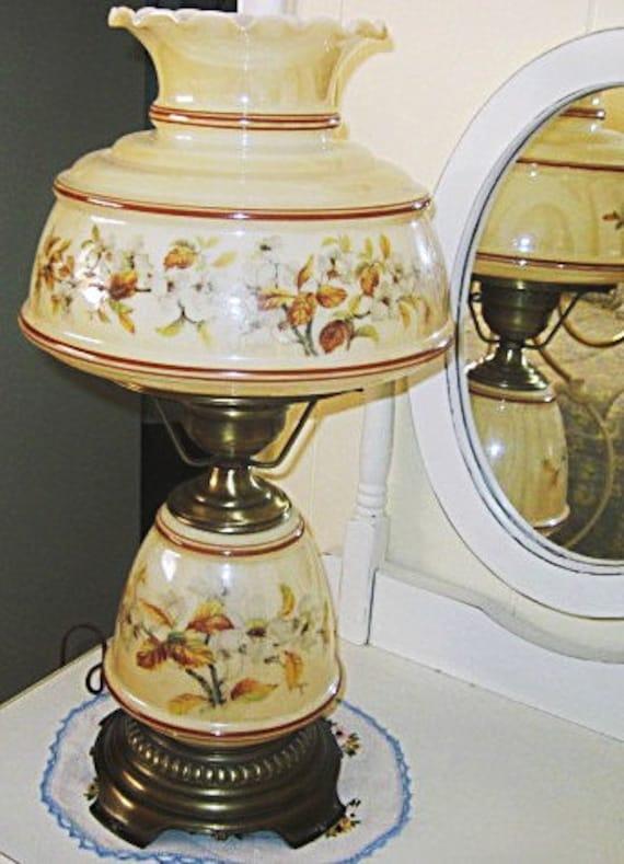 Vintage Quoizel Hurricane Table Parlor Lamp