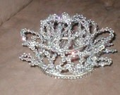 A Deluxe Vintage 1950's Swarovski Crystal Crown Bridal Headpiece