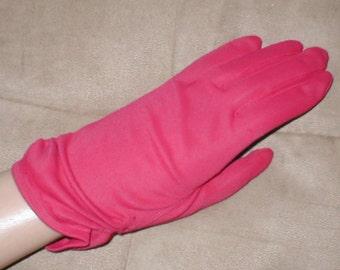 Vintage Red wrist-length Gloves