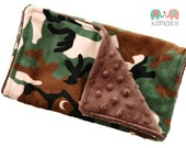Camo Minky Burp Cloth - Rustic - Boys - Baby Shower - Gift - Feeding - Nursing - New Mom - Hunting
