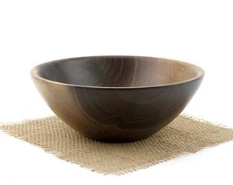 Walnut Bowl, Deep Walnut Fruit Bowl, Sserving Dish