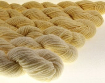 Ombre Mini Skeins DK or Fingering Gradient Yarn - Butter Mellow -  600 yards