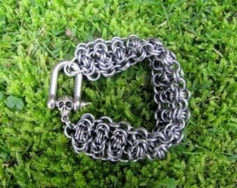 Gunmetal Chainmaille Bracelet