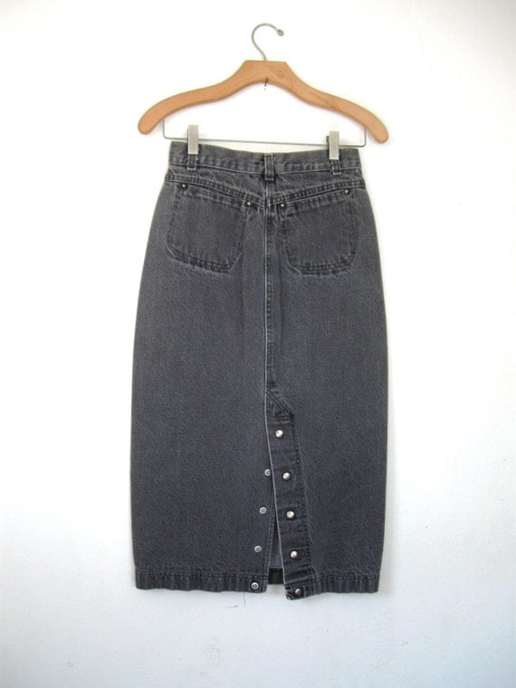 High Waisted Denim Pencil Vintage 70's Levis Junior Small