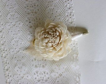 Milk and Honey Boutonniere