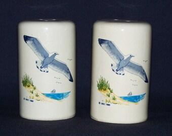 Seagulls and Summer Beach Salt and Pepper Shaker Set  (1309-1)