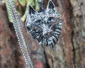 Wolf Necklace, Wolf Head Pendant, Antique Silver, Wolf Totem Necklace, Animal Spirit Guide Talisman, Witchcraft, Wiccan Jewelry, Pagan,Witch