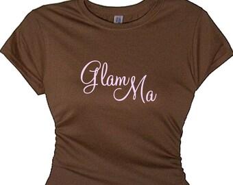 Grandmother Gift Grandma Glam Ma T Shirt New Grandparents Gift Retiring New Baby Grandmom TShirt Grandparent  Unique Gifts Special Granny's