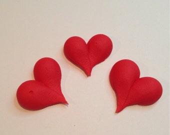 LOT of 100 Royal Icing hearts