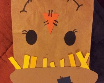 Scarecrow Treat Sacks - Fall Pumpkin Patch Farm Harvest Thanksgiving Oz Theme Birthday Party Goody Favor Bags by jettabees on Etsy