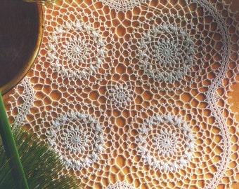 Crocheted Doily - Bee balm free shipping