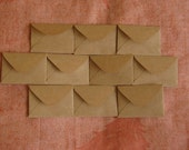 "25 Mini Brown Envelopes - Brown Kraft Envelopes - Recycled Mini Envelopes - Tiny Envelopes - 1.5"" x 2"""