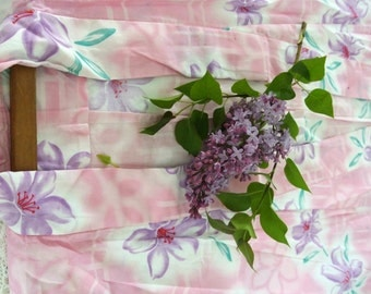 KIMONO with Obi & Bunko-Cotton-Purchased in Japan-Authentic-Long