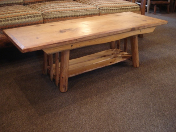 Scarce Habitant Knotty Pine Coffee Table By Whiskeypointpottery
