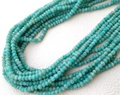 Brand New, AAA Rare Natural AMAZONITE Micro Faceted Rondelles, 4mm size Rondelles,Full 13 Inch Strand,Limited Stock Quality