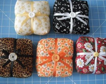 Chunky Square Pin Cushions / Assorted Prints / Pin Cushion / Sewing Supplies