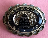Victorian Mourning Brooch In Memory of My Dear Mother