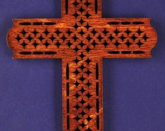 Large Diamond Wood Cross
