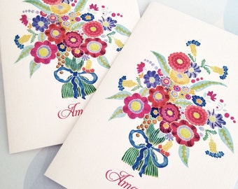 Personalized Stationery - Set of 6 Note Cards