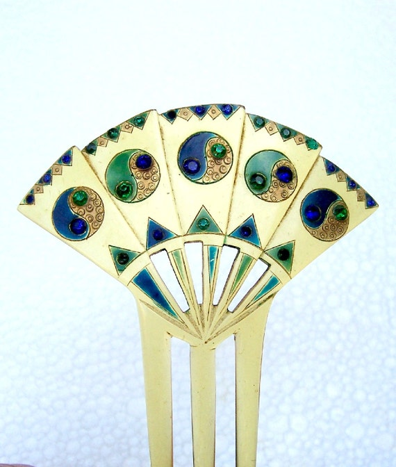 Decorative hair comb hand painted hair accessory hair jewelry - Decorative hair slides ...