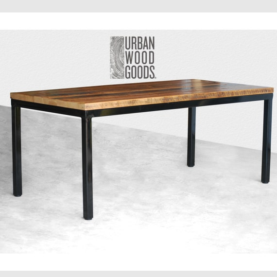 Modern Dining Table In Reclaimed Wood And Steel Legs In Your