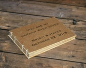 Rustic Custom Wedding Guest Book - Create Your Own - Vintage Wedding, Anniversary Party