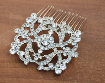 Bridal Hair Comb, Wedding Hair comb, Wedding Hair Accessories, Crystal comb, rhinestone comb, Bridal Crystal hair comb, Art Nouveau comb