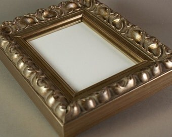 Silver Ornate ACEO Picture Frame - Ornate Wood Frame -  ACEO Photo Frame
