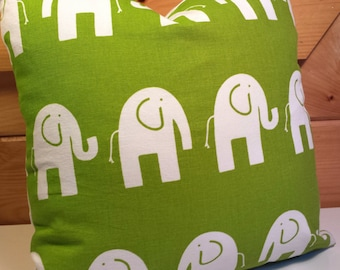 Pillow Covers Elephants Green