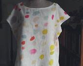 Woven top t shirt nani iro Japanese fabric double gauze easy to wear