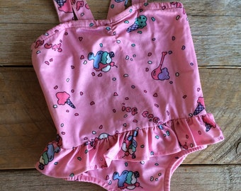 Vintage Baby Girl Beach Babies by Health-Tex Swimsuit // Size 12 months