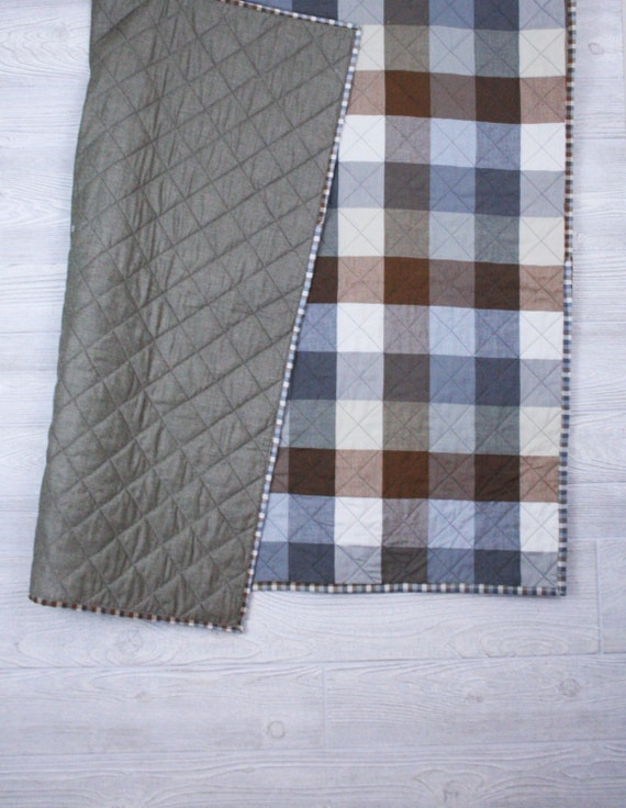 Plaid Baby Quilt: Mad About Plaid Baby Quilt Gender Neutral Boys Crib Bedding