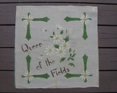 FREE SHIP! Vintage Queen of the Fields Pillow Front and Back, Adirondack Inspired