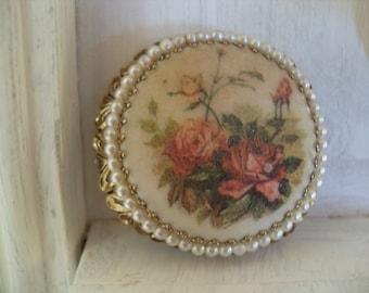1950s Vintage Large Rose Brooch.