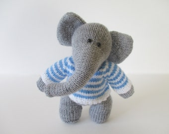 Wellington the elephant toy knitting pattern