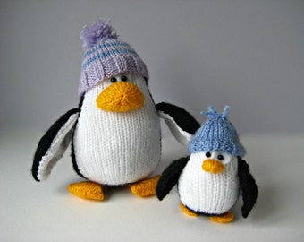 Bobble and Bubble Penguins toy knitting patterns