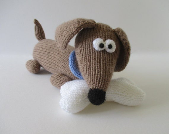 Knitting Patterns For Dogs Toys : Bangers the Sausage Dog toy knitting patterns